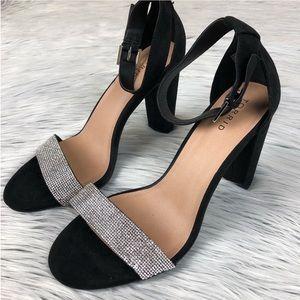 Torrid two strap rhinestone heel size 11.5 W